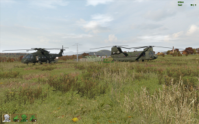 ch-47 and merlin hc3 in ArmaII Warfare